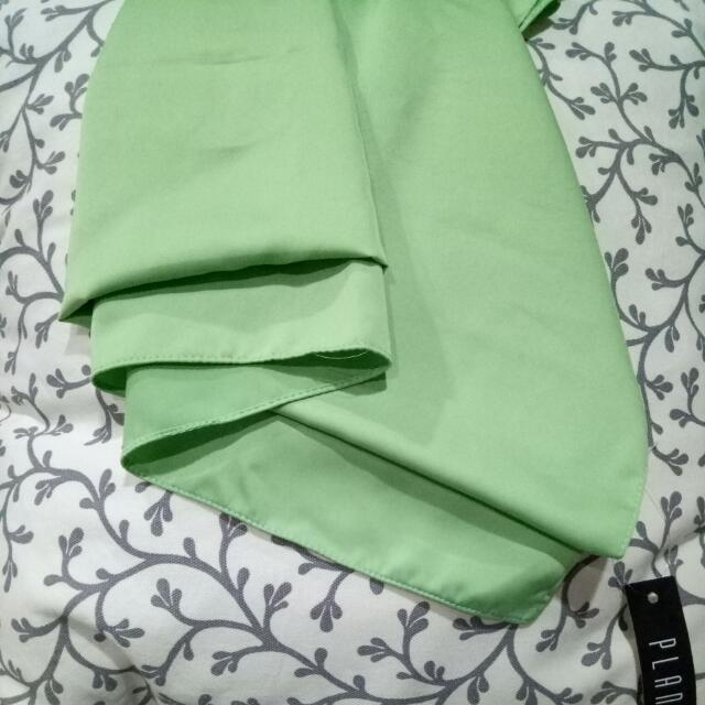 mint green silk scarf / pasmina