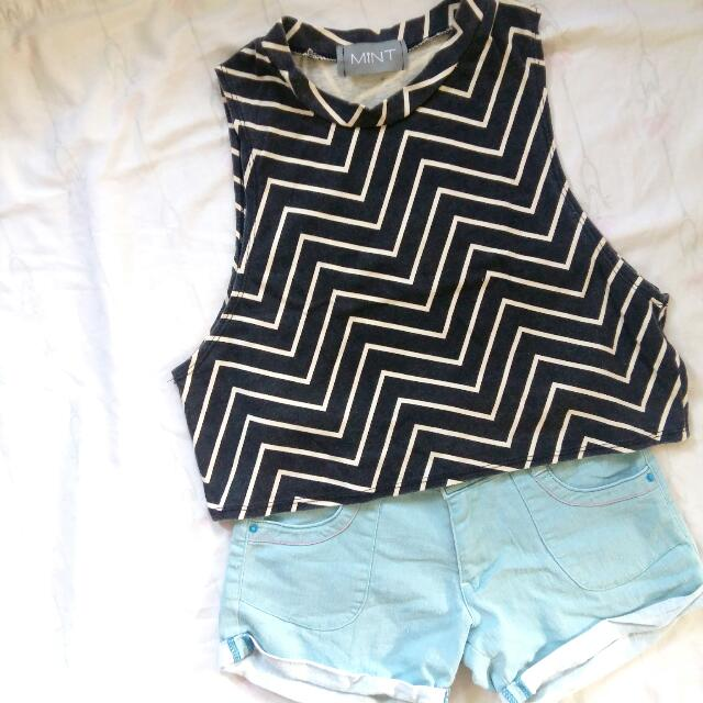 Mint Sleveless Cropped Top