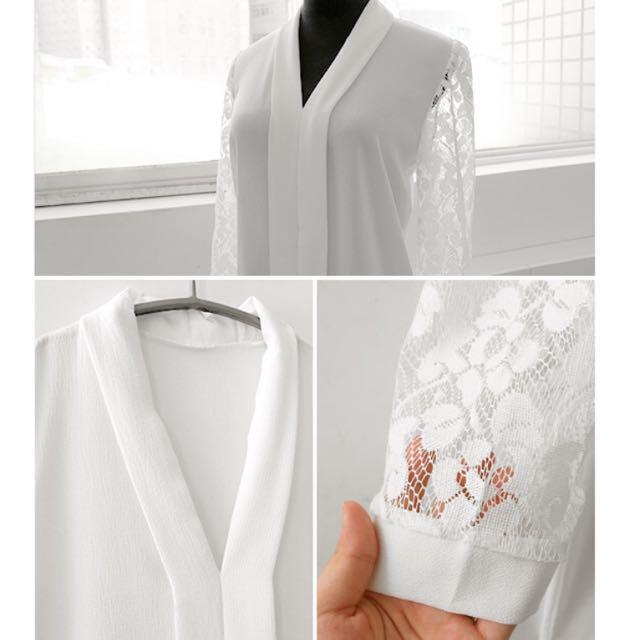 全新MIUSTAR 蕾絲襯衫