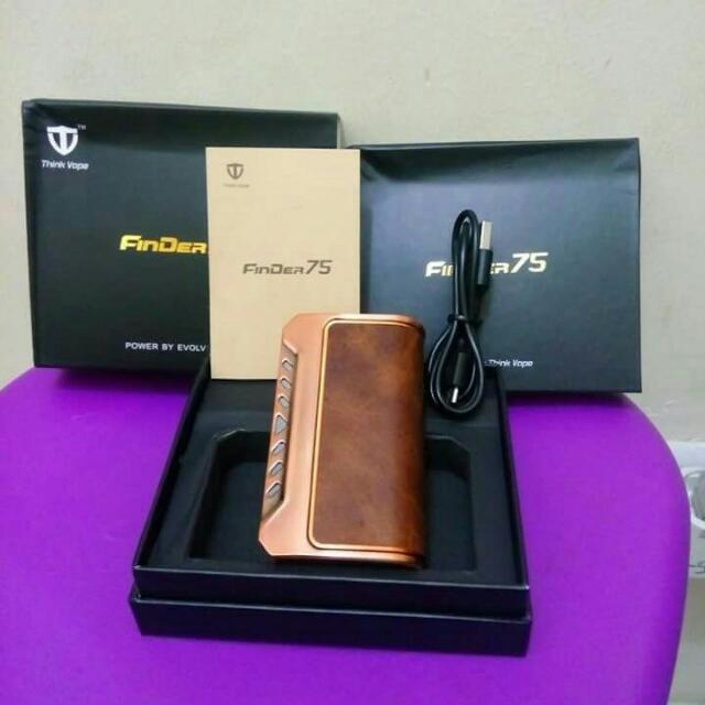 Mod Vaporizer Think Vape FinDer75 Copper-Brown Limited Edition + Silicone Case
