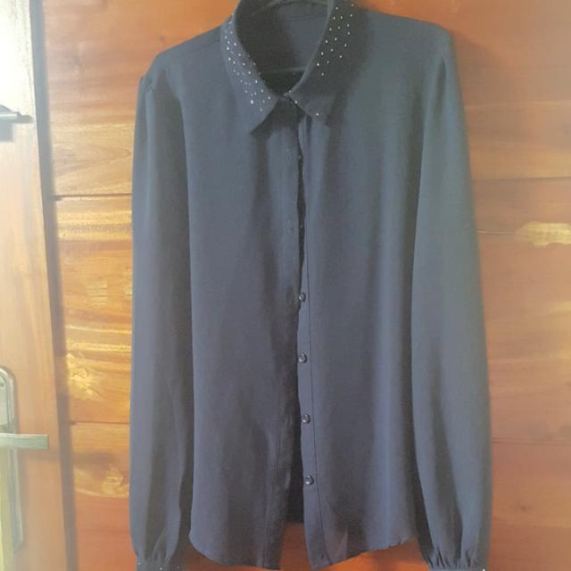 Navy Blue Longsleeved Shirt