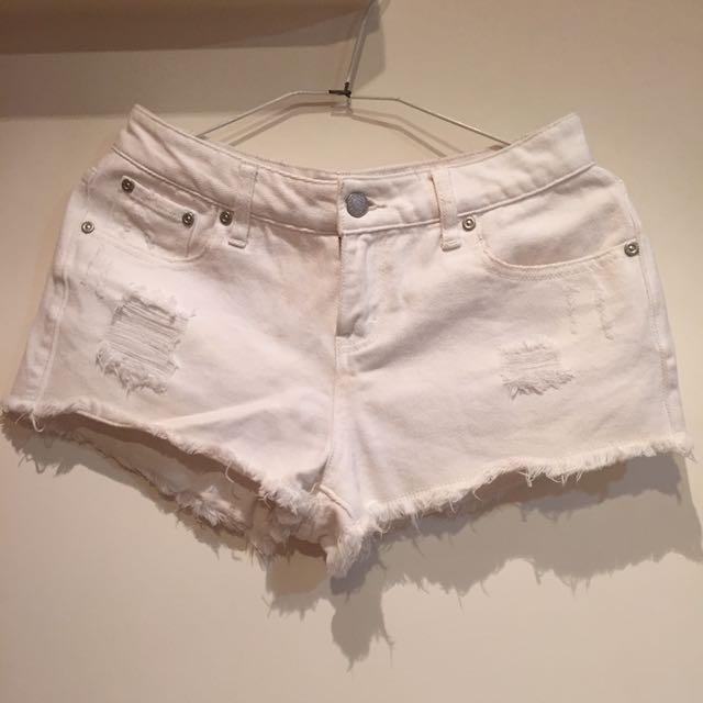 NET白色短褲