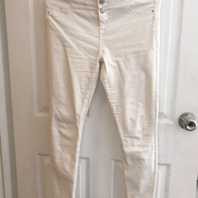 New Look White Denim Pants