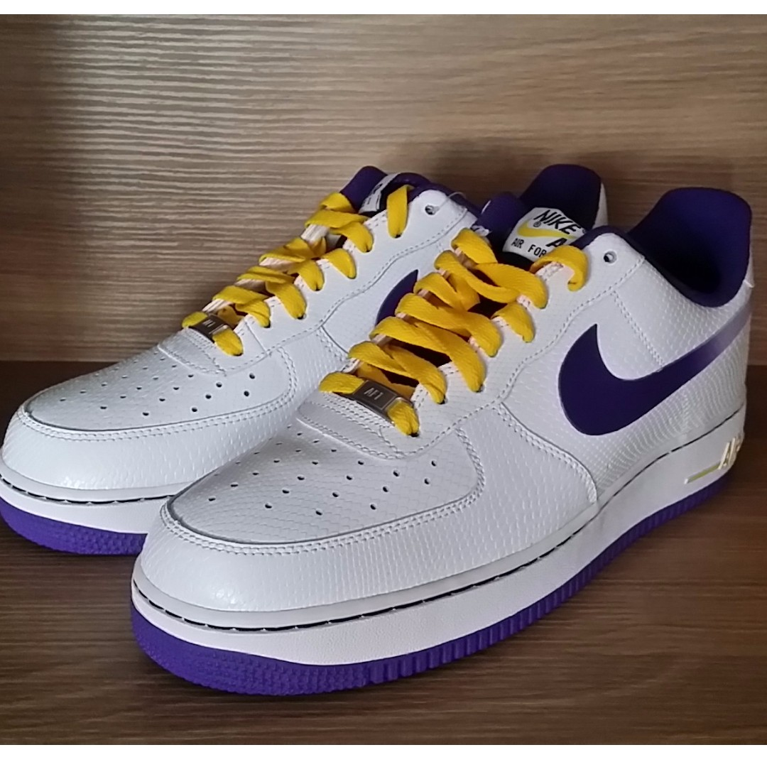 """offer discounts new style shopping NIKE AIR FORCE 1 LOW """"GRADIENT SWOOSH"""" US10 (LA Lakers ..."""