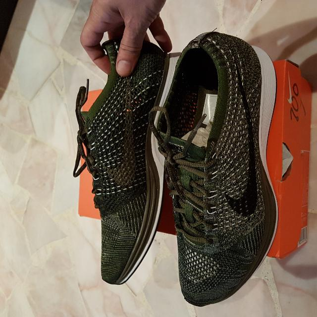a90226a6f3f0 Nike Flyknit Racer Olive Green Rough Green Size 10