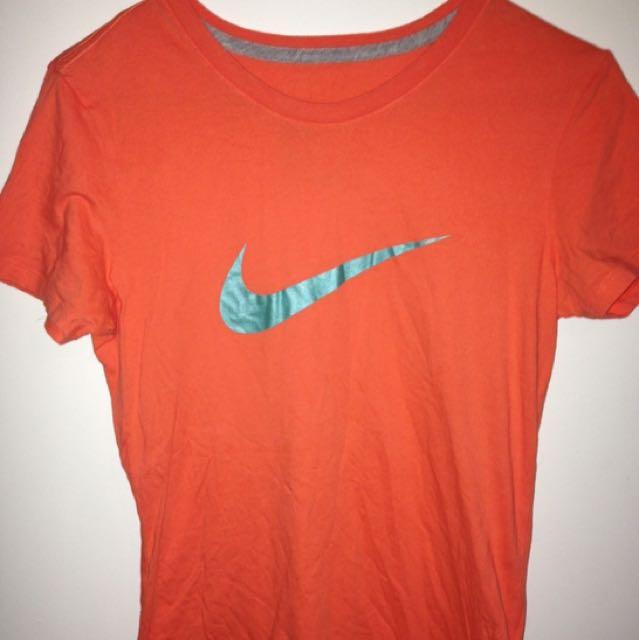 Nike Orange Swoosh T Shirt Classic