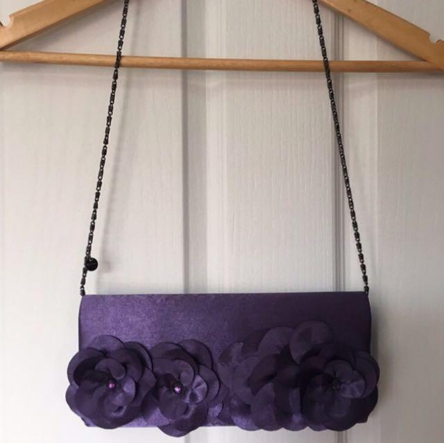 Olga Berg Purple Clutch Handbag