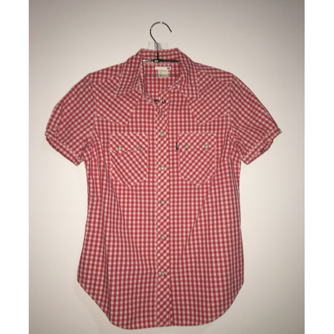 ORIGINAL LEVI'S Red Plaid Shirt