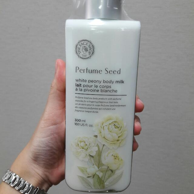 PERFUME SEED WHITE PEONY BODY MILK THE FACE SHOP