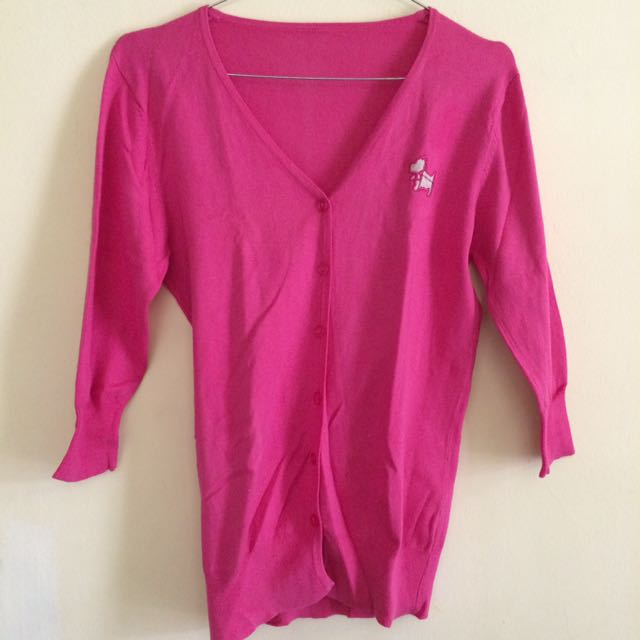 Pink Short Cardigan