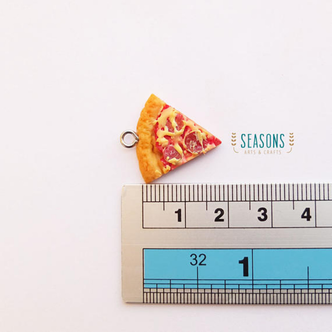 Pizza Clay Charm (1Set x 2Pcs) (158)