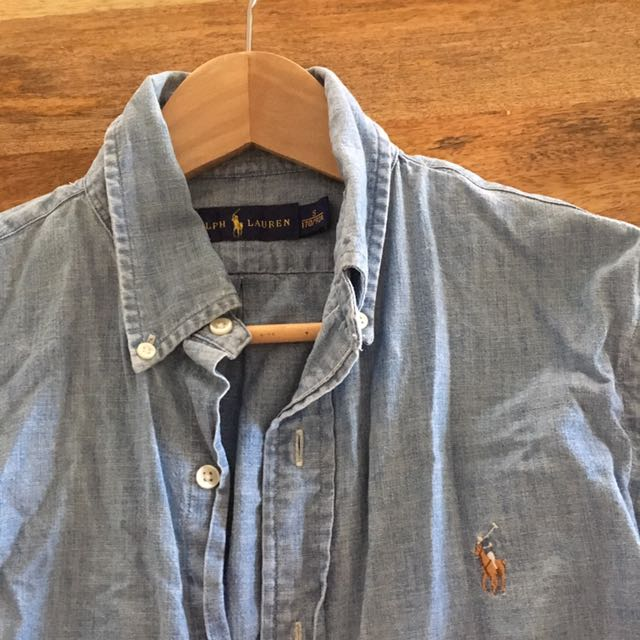 Polo Ralph Lauren Vintage Denim Shirt Sz S