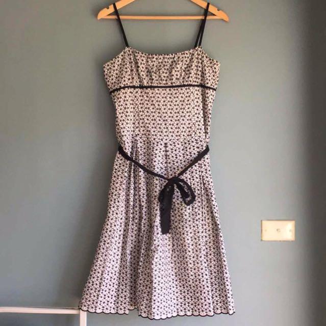 Portmans Black & White Floral Dress 12