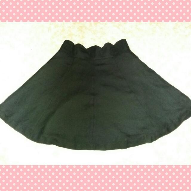 Preloved Highwaist Skater Skirt