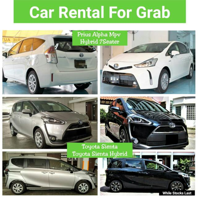 Prius Alpha Mpv 7 Seater Rental For Uber Use Cars Vehicle Rentals