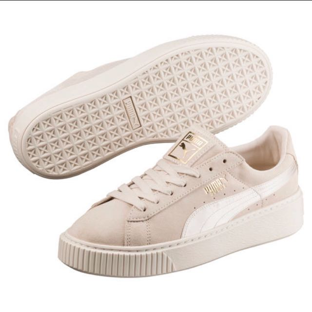 reputable site 6c3c7 aec00 PUMA Suede Summer Satin Platform Sneakers