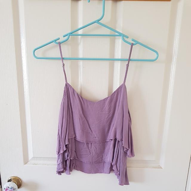 Purple Layered Top Size 8/S