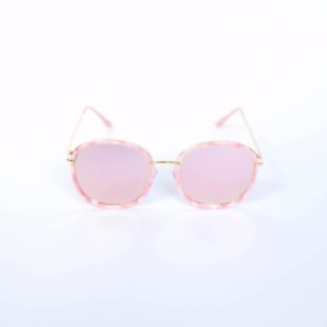 Raphaella Oversized Sunnies (Pink)