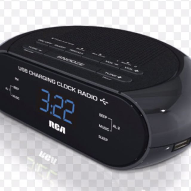 BNIB RCA USB Charging Clock Radio