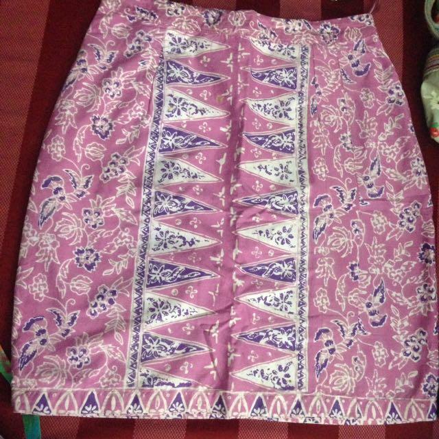 Rok Batik Pendek Ungu