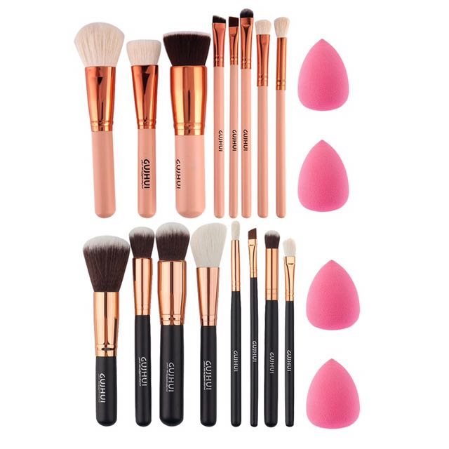 Beauty Make Up Blender Powder Puff Bentuk Love Info Daftar Harga Source · ROSE GOLD & BLACK GOLD BRUSH POWDER TOOL FREE 2 BEAUTY BLENDER Health