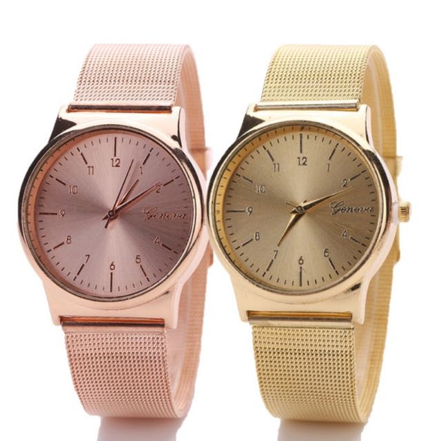 Rose Gold & Gold watches