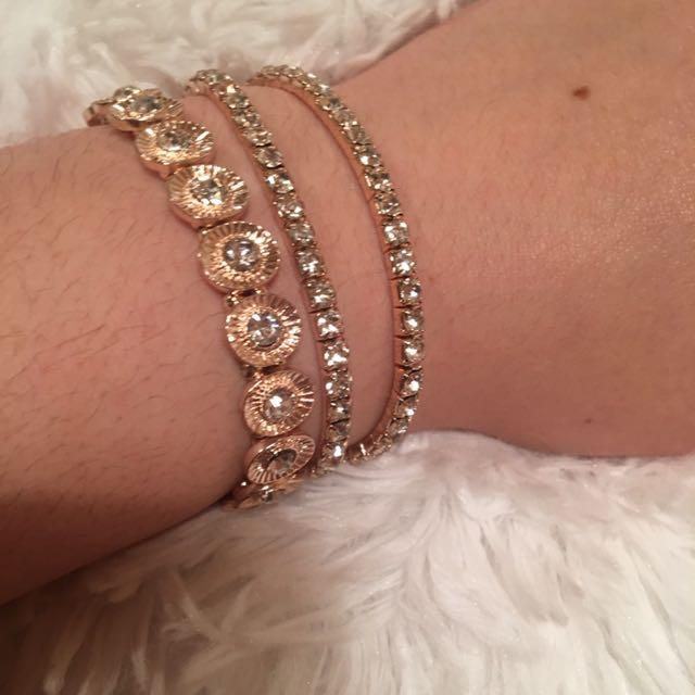 Rose Gold & Silver Bracelets