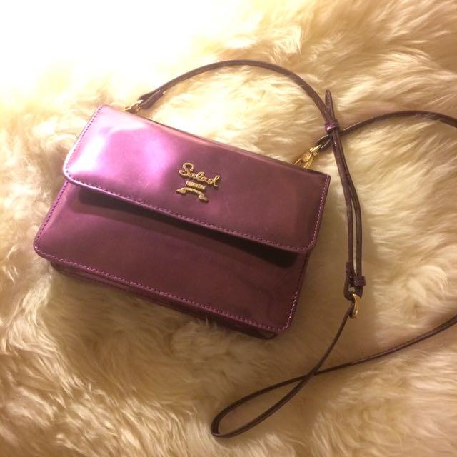 Salad Purple Reflective Bag