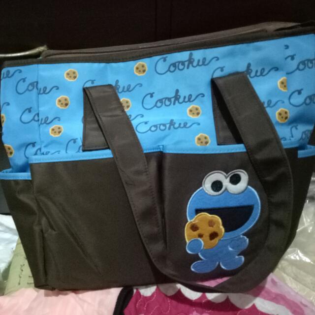Sesame Street (Cookie monster)  Diaper bag