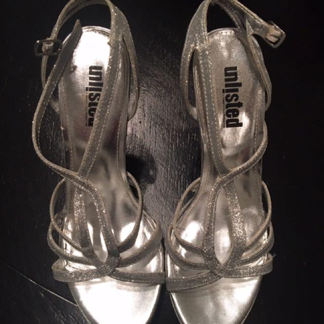 Silver Women's Heels