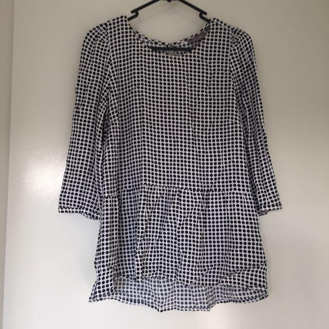 Size 8 Plaid Drop Waist Tunic Top