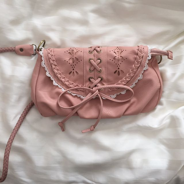 Small Pastel Pink Crossbody Bag