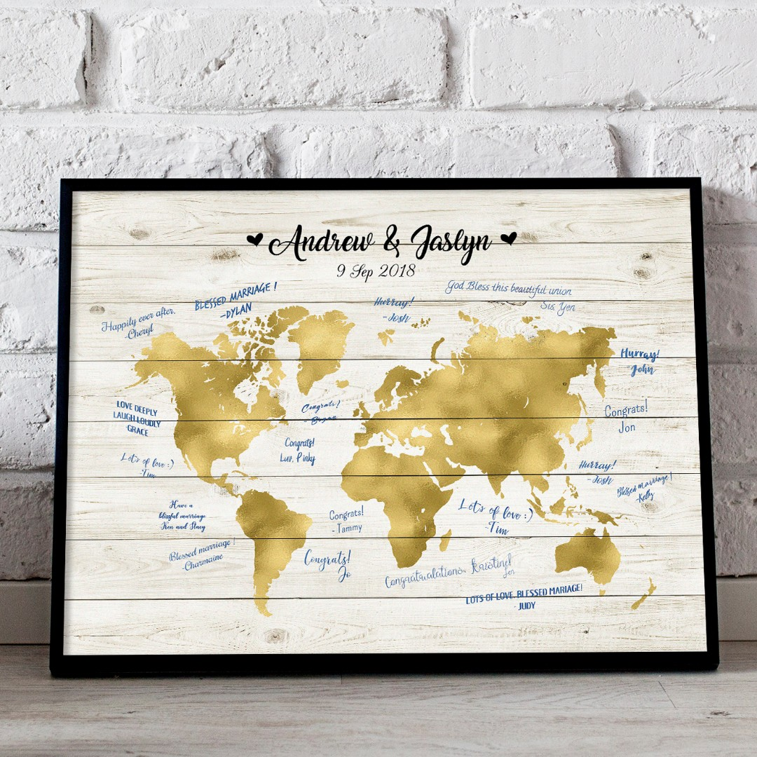 Somegoodwords wedding guest book alternative world map rustic photo photo gumiabroncs Image collections