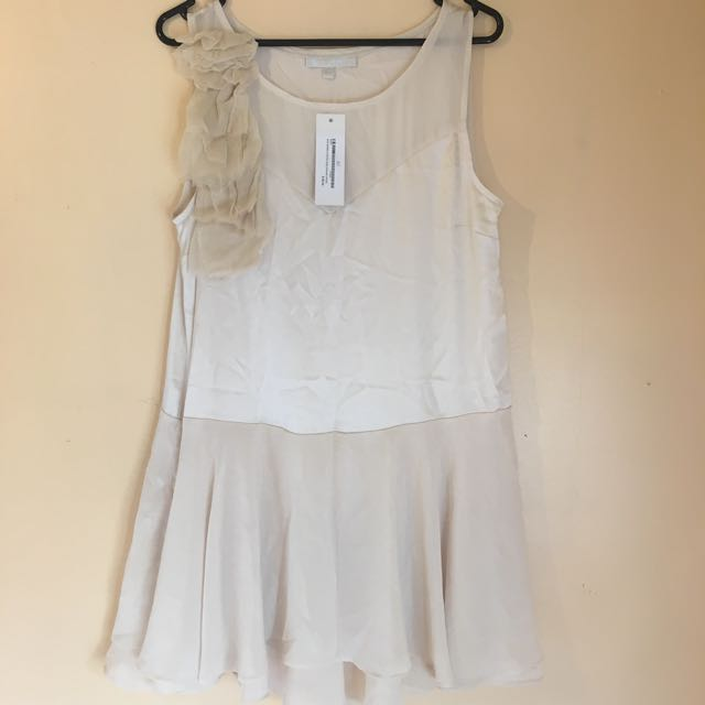Sooni Brand Cream Floral Origami Dress 10