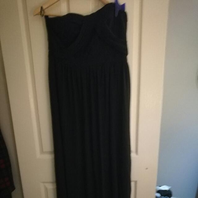 Strapless Black Formal Dress