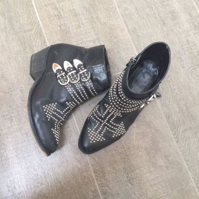 Studded Leather Boots Size 7