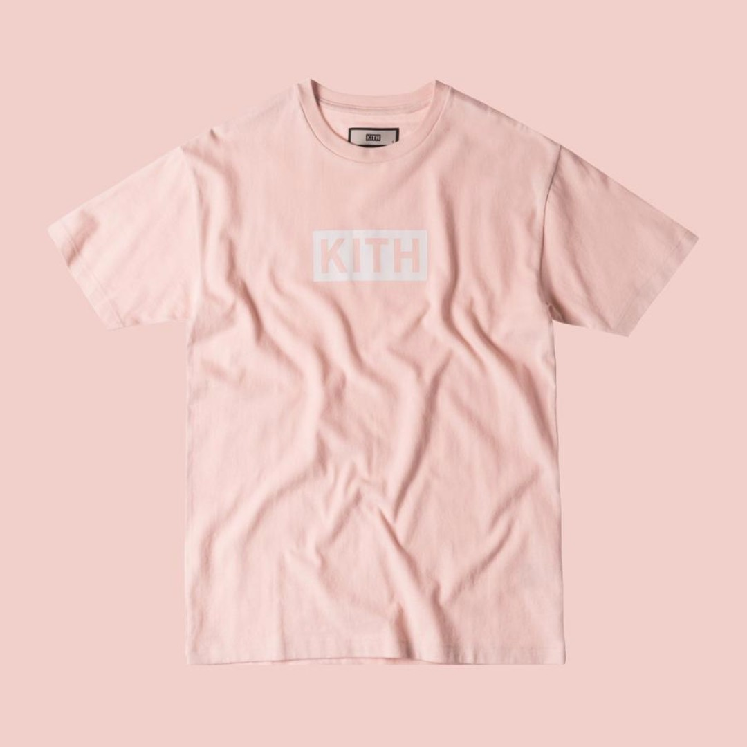 32fcf8cc9117 Sz XS Kith Box Logo bogo Light Pink SS 17, Men's Fashion, Clothes on  Carousell