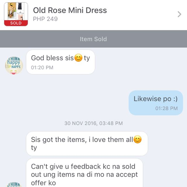 Thank You For Purchasing My Mini Old Rose Gown