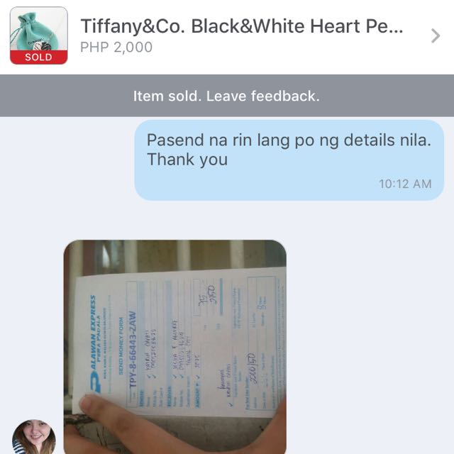 Thank You For Purchasing My Tiffany&Co.