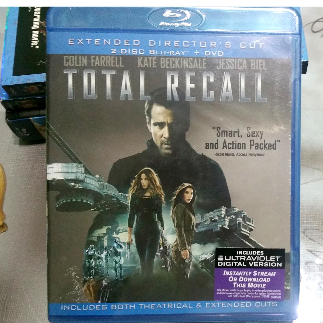 Total Recall [2012] (blu-ray, UK, region free)