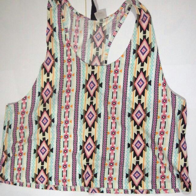 tribal tank top by H&M