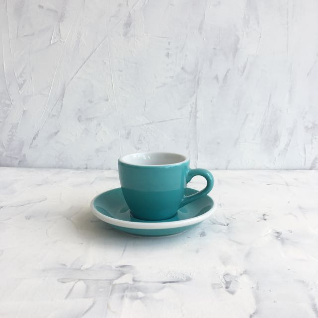 Turquoise 5oz Espresso Cup & Saucer