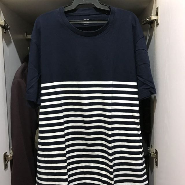 Uniqlo Striped Tee (navy)