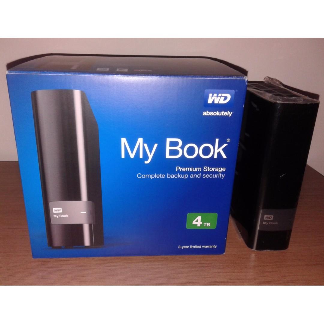 Western Digital My Book 4TB External Hard Disk, Electronics