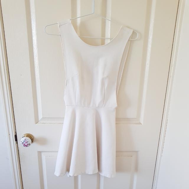 White Skater Dress Size 6/XS