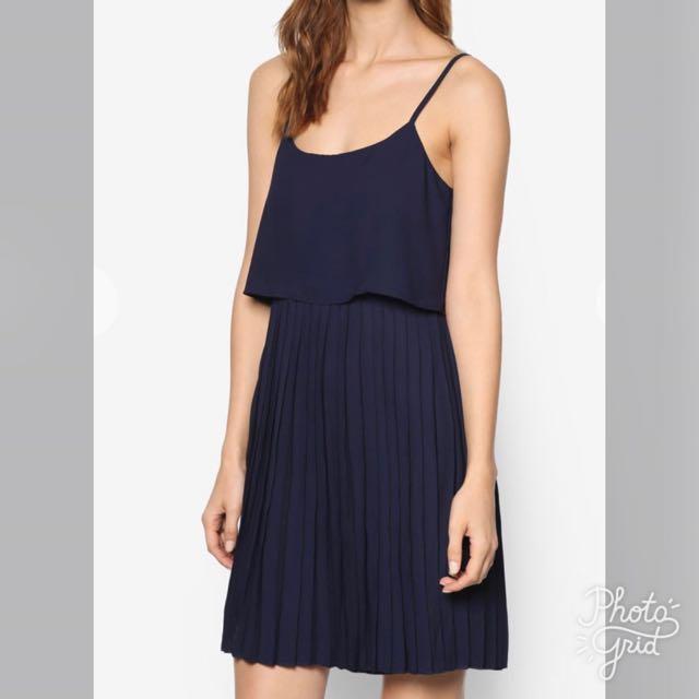 Zalora Love Double Layered Pleated Dress