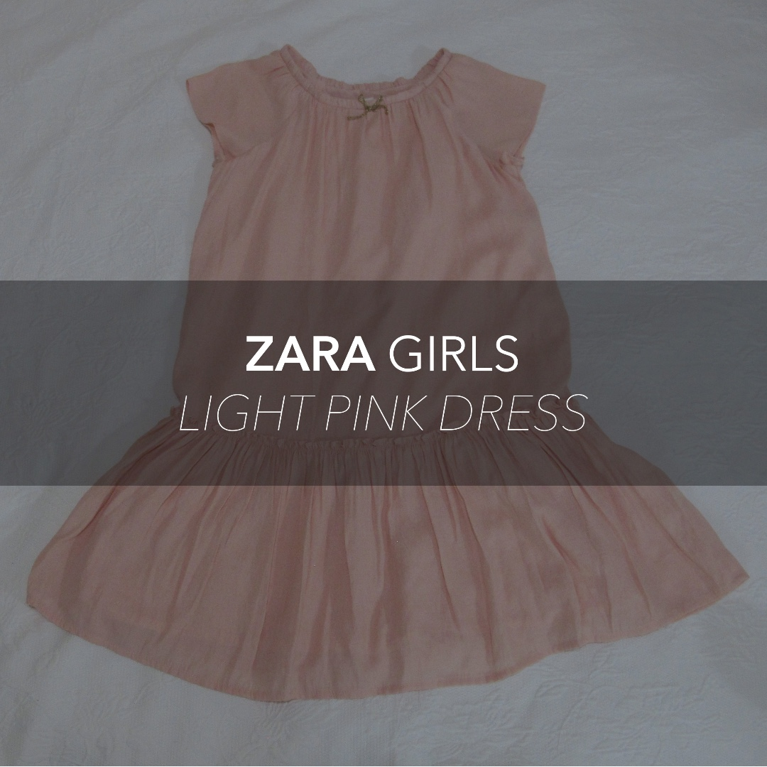 ZARA Girls (Kids) Light Pink Dress