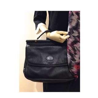 Vintage Soft Sheepskin Leather Shoulder Bag / Attache / Office Smart