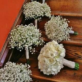 Bridal Wedding Set Fresh Flowers - Edith