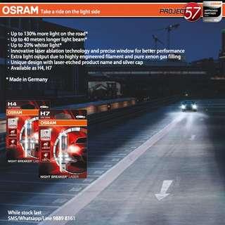 OSRAM Night Breaker Laser H7 & H4